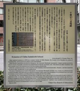 千葉道場跡の看板